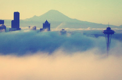 Space needle fog